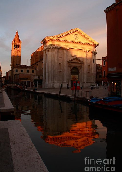 Venikce Greeting Card featuring the photograph San Barnaba by Michael Henderson