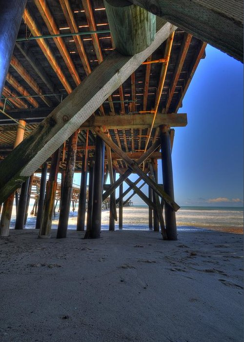San Clemente Pier Greeting Card featuring the photograph San Clemente Pier by Kelly Wade