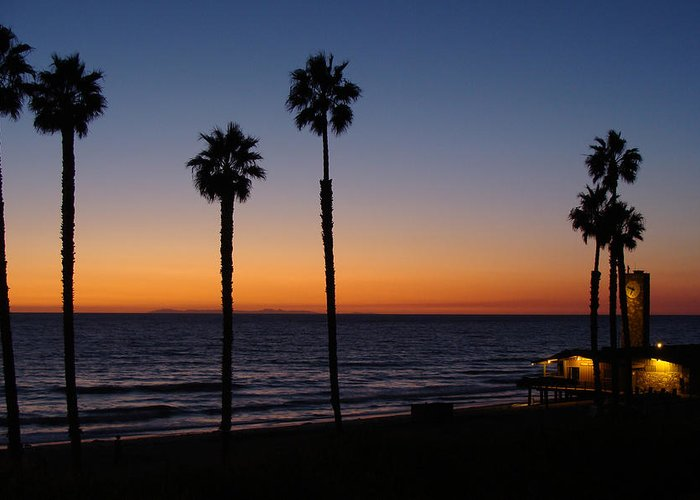 Landscape Greeting Card featuring the photograph San Clemente Sunset by Ty Nichols