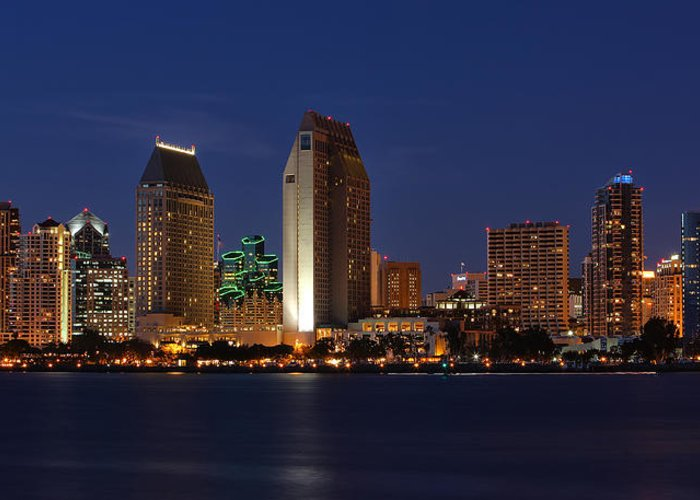 San Diego Greeting Card featuring the photograph San Diego America's Finest City by Larry Marshall
