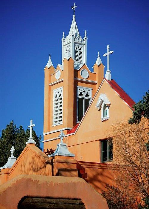 Albuquerque Greeting Card featuring the photograph San Felipe de Neri Church, Albuquerque, New Mexico by Zayne Diamond Photographic