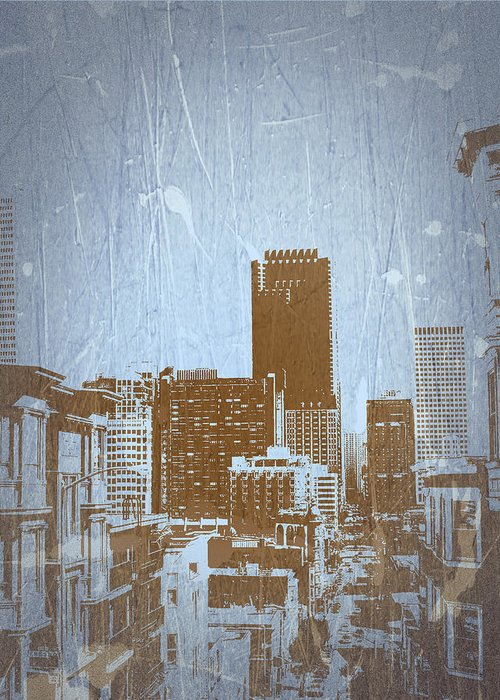 Greeting Card featuring the photograph San Francisco 2 by Naxart Studio