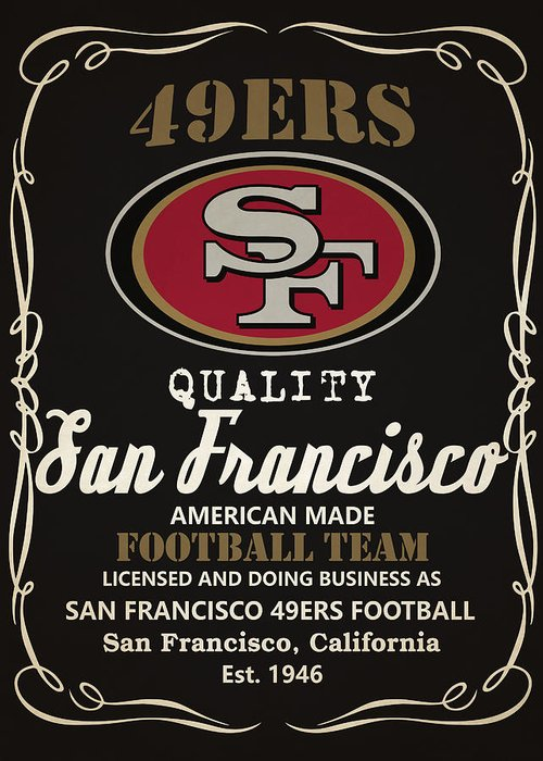 49ers Paintings Greeting Cards