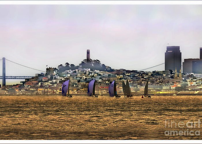 Travel Greeting Card featuring the photograph San Francisco Bay by Leslie Hunziker