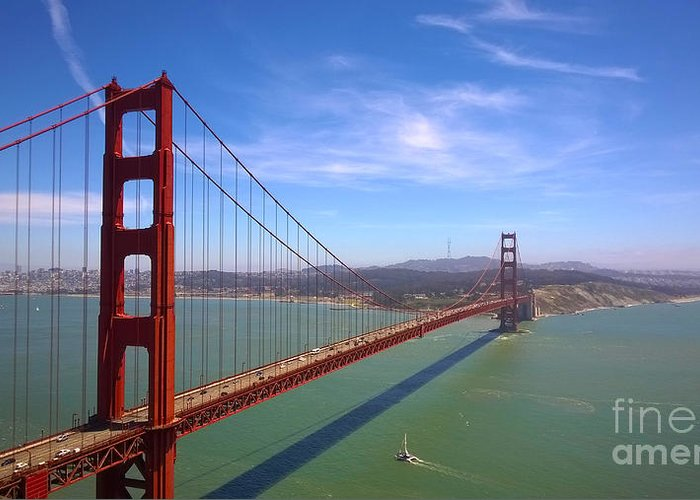 San Francisco Greeting Card featuring the photograph San Francisco Golden Gate Bridge by Debra Thompson