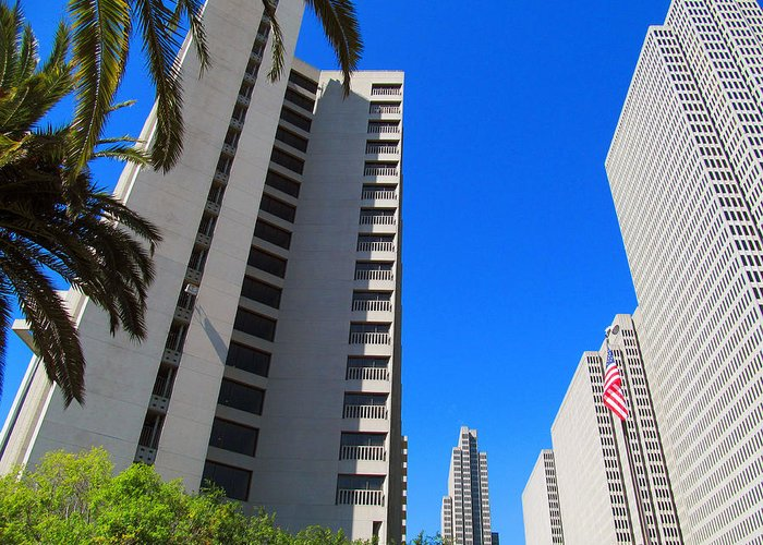 Union Square Greeting Card featuring the photograph San Francisco Highrise by Tina M Wenger