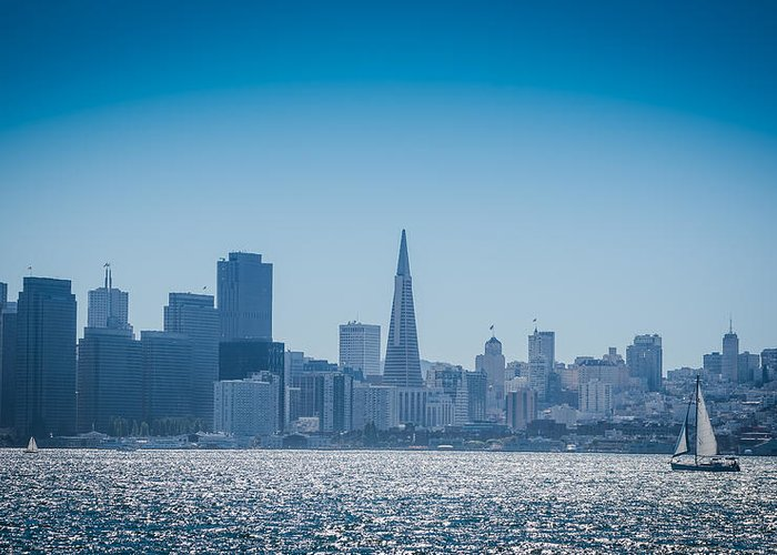San Francisco Greeting Card featuring the photograph San Francisco Skyline by Jayasimha Nuggehalli
