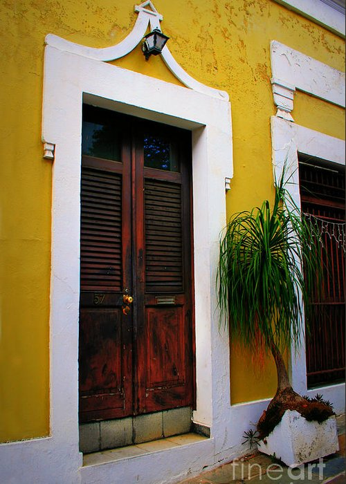 Door Greeting Card featuring the photograph San Juan Doors by Perry Webster