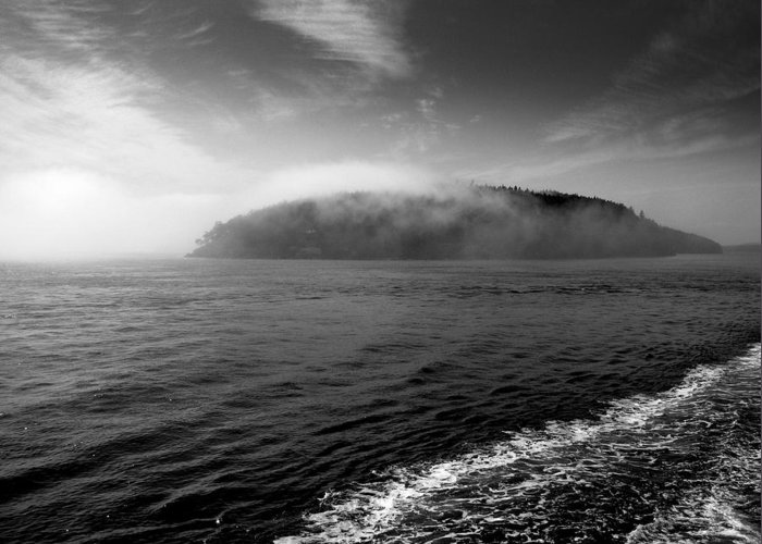 Black And White Greeting Card featuring the photograph San Juan Islands by Karla DeCamp