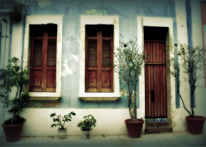 Door Greeting Card featuring the photograph San Juan Living 3 by Perry Webster
