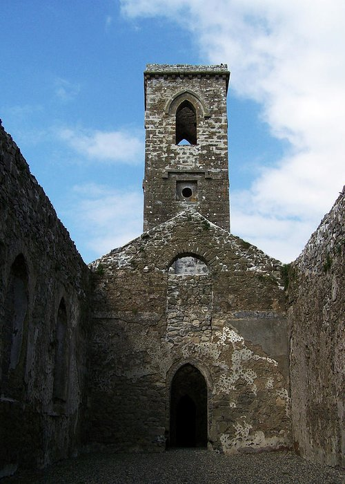 Ireland Greeting Card featuring the photograph Sanctuary Fuerty Church Roscommon Ireland by Teresa Mucha