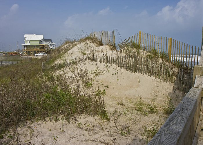 Topsail Greeting Card featuring the photograph Sand Dunes II by Betsy Knapp