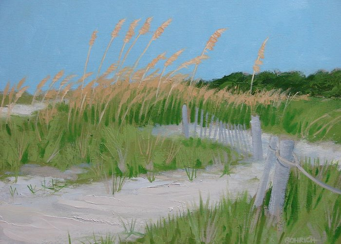 Sane Dunes Greeting Card featuring the painting SAND DUNES No. 3 by Robert Rohrich