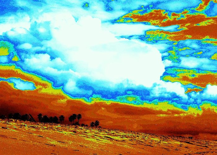 Beach Greeting Card featuring the photograph Sand In The Sky by Daniele Smith