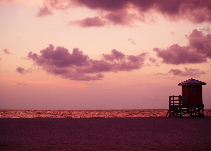 Sunset Greeting Card featuring the photograph Sand Key Sunset by Milton Brugada