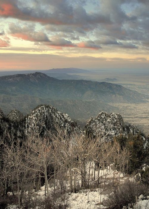 Sandia Mountains Greeting Card featuring the photograph Sandia Happening.. by Al Swasey