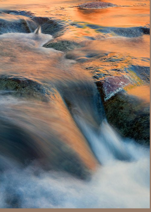 Waterfall Greeting Card featuring the photograph Sandstone Reflections by Mike Dawson