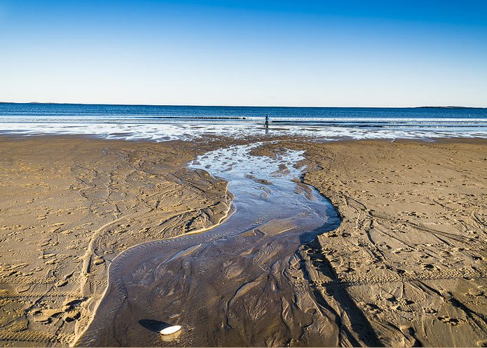 Ogunquit Greeting Card featuring the photograph Sandy Beach In Maine, Usa by Enrico Della Pietra