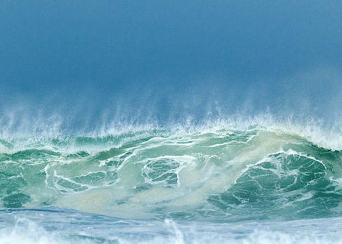 Wave Greeting Card featuring the photograph Sandy Wave by Michelle Wiarda