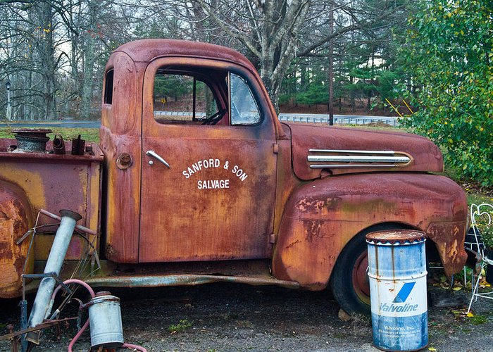 Greeting Card featuring the photograph Sanford And Son Salvage 1 by Douglas Barnett
