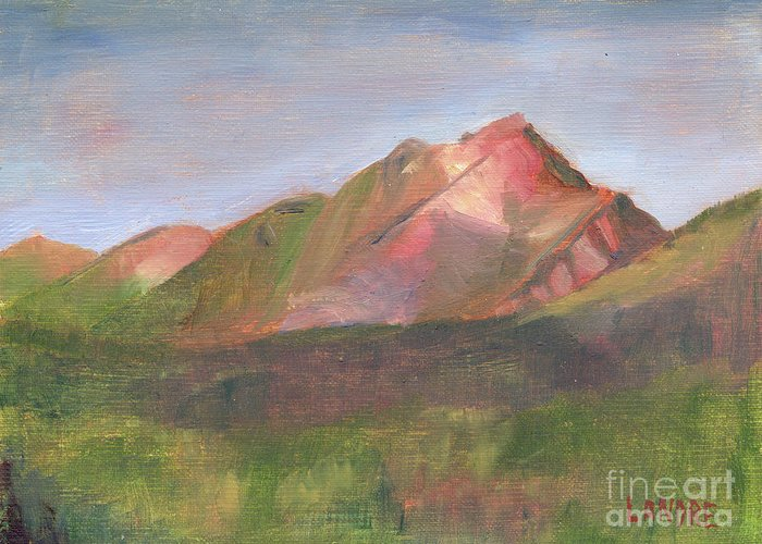 Colorado Greeting Card featuring the painting Sangres I by Lilibeth Andre