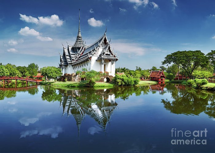 Ancient Greeting Card featuring the photograph Sanphet Prasat Palace, Thailand by Dmitry Pichugin