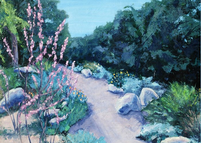 Santa Barbara Botanical Gardens Greeting Card featuring the painting Santa Barbara Botanical Gardens by M Schaefer