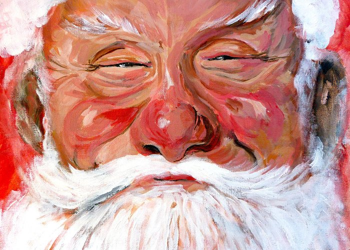 Santa Greeting Card featuring the painting Santa Claus by Tom Roderick