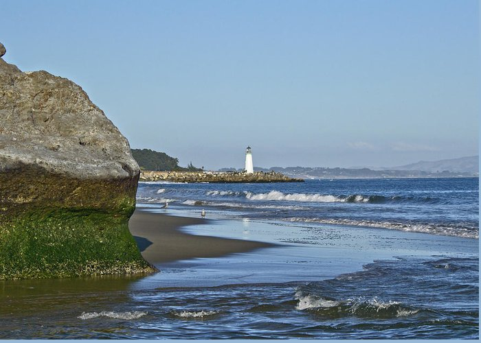 Santa Greeting Card featuring the photograph Santa Cruz Coastline - California by Brendan Reals