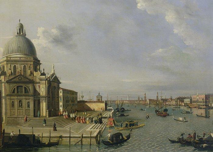 Santa Greeting Card featuring the painting Santa Maria Della Salute - Venice by William James