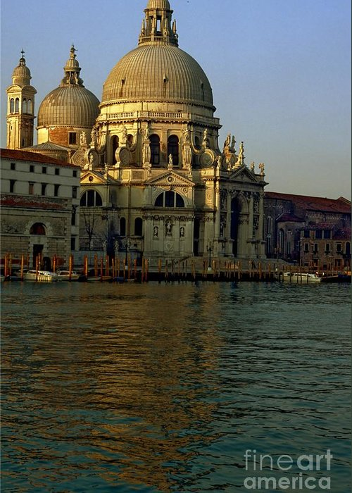 Venice Greeting Card featuring the photograph Santa Maria Della Salute In Venice In Morning Light by Michael Henderson