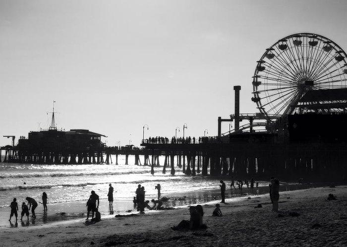 California Greeting Card featuring the photograph Santa Monica Pier by John Gusky