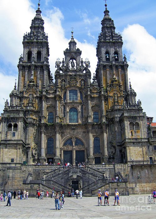 Catholic Art Gallery - Art Group Greeting Card featuring the photograph Santiago De Compostela by Nieves Nitta