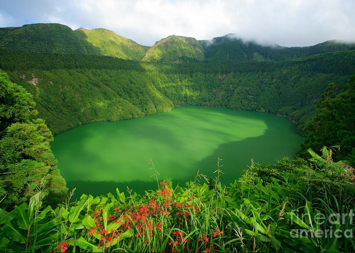 Azores Greeting Card featuring the photograph Santiago Lake by Gaspar Avila