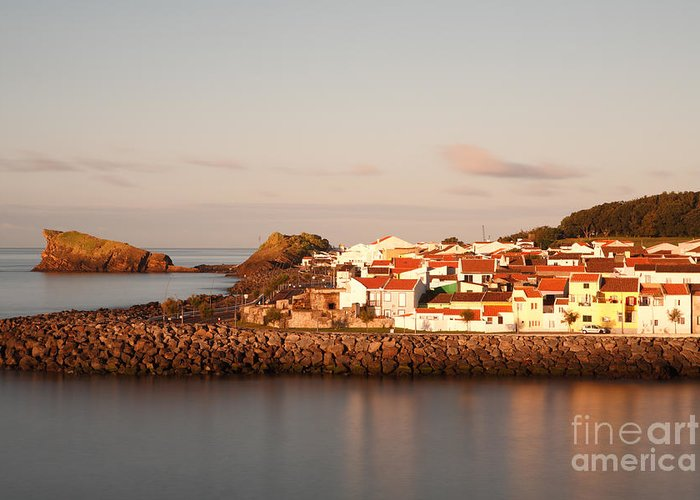 Seascape Greeting Card featuring the photograph Sao Roque At Sunrise by Gaspar Avila