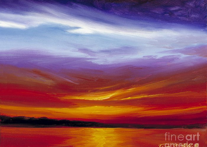 Skyscape Greeting Card featuring the painting Sarasota Bay I by James Christopher Hill