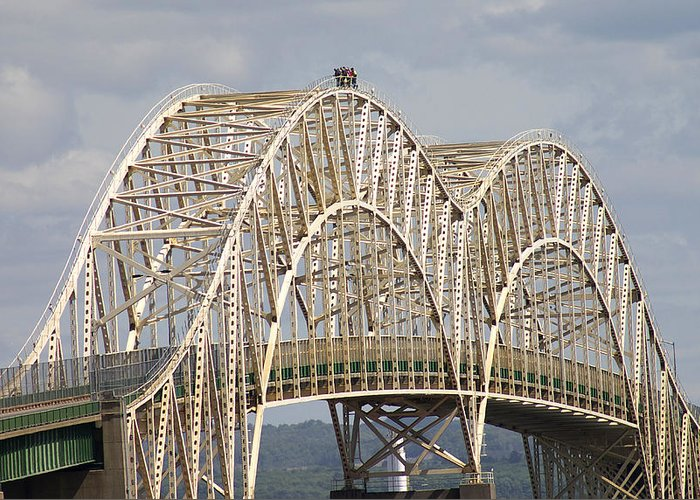 Sault Ste Marie International Bridge Arch Greeting Card for Sale ...