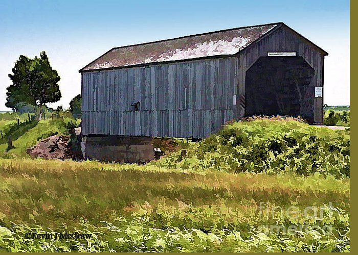 Covered Bridges Greeting Card featuring the photograph Sawmill Creek Covered Bridge by Patricia L Davidson