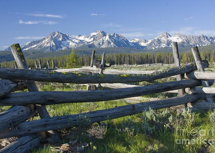 Sawtooth Greeting Card featuring the photograph Sawtooth Range by Idaho Scenic Images Linda Lantzy