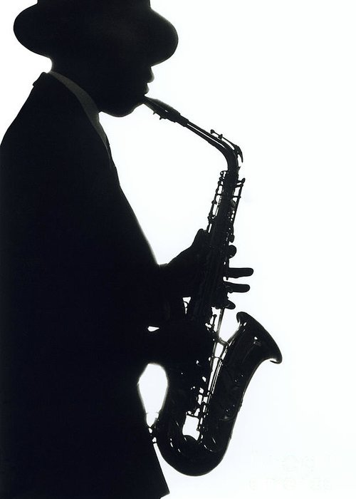 Sax Greeting Card featuring the photograph Sax 2 by Tony Cordoza