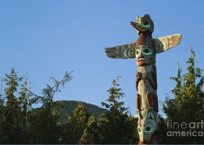 Alaskan Greeting Card featuring the photograph Saxman Totem Park by Greg Vaughn - Printscapes