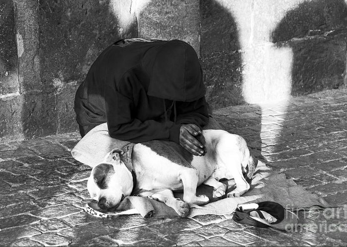Say A Prayer In Prague Greeting Card featuring the photograph Say A Prayer In Prague by John Rizzuto