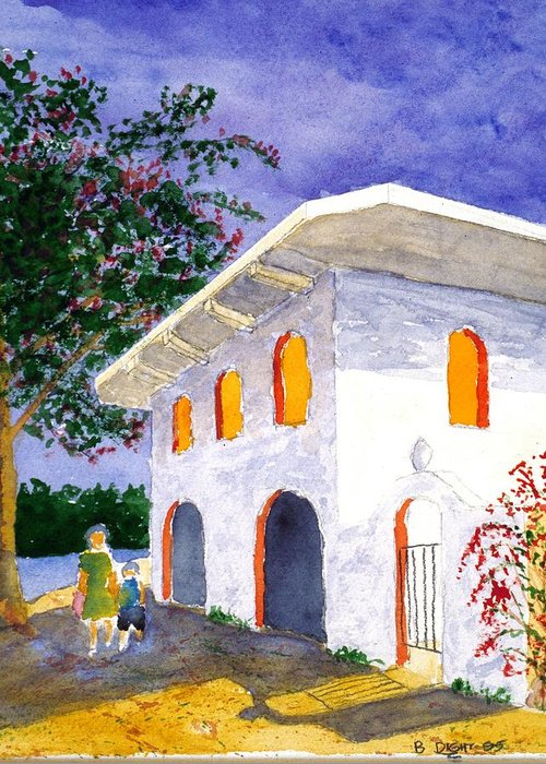 Landscape Greeting Card featuring the painting Sayilita Casa by Buster Dight