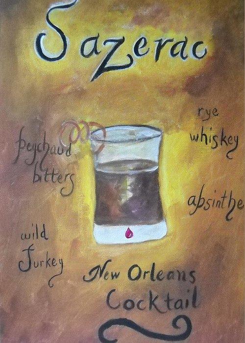 Sazerac Cocktail Greeting Cards