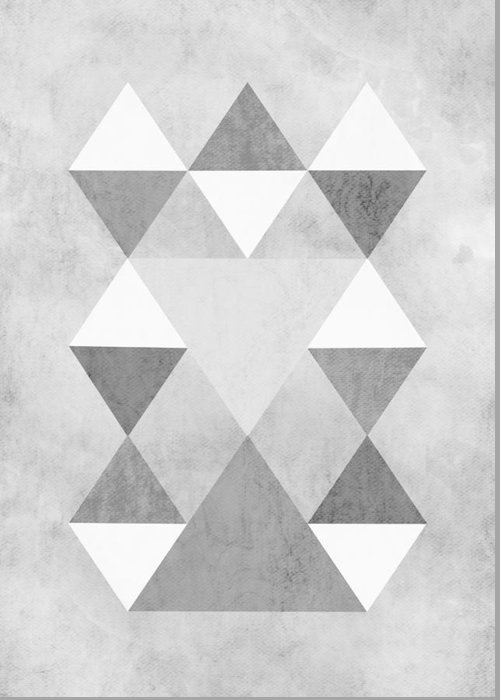 Scandi Greeting Card featuring the digital art Scandi Grey by Kris Sheather