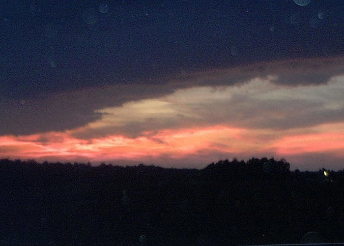Sunset Greeting Card featuring the photograph Scar Across The Sky by Curt Curt