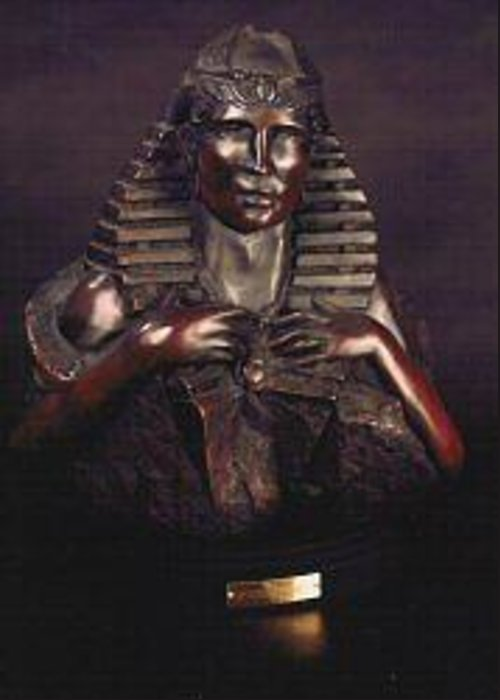 Visionary Greeting Card featuring the sculpture Scarab Hart by Larkin Chollar