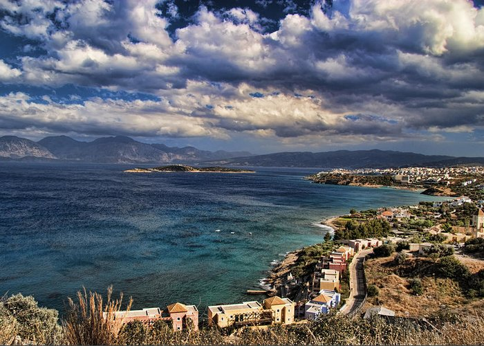 Crete Greeting Card featuring the photograph Scenic View Of Eastern Crete by David Smith