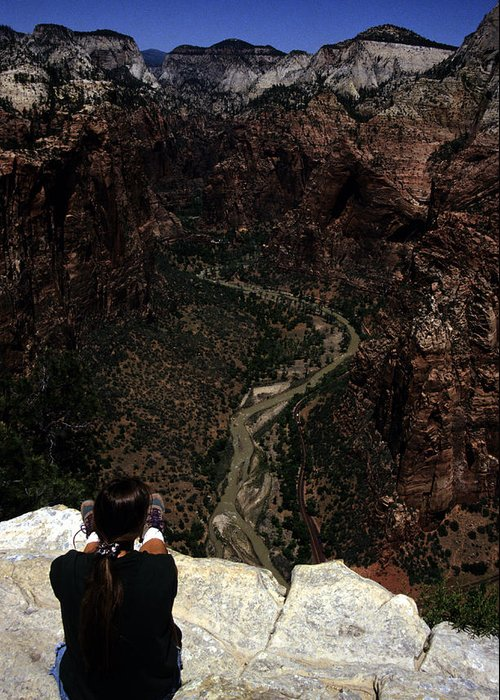 Zion National Park Greeting Card featuring the photograph Scenic View Of Zion National Park by Stacy Gold