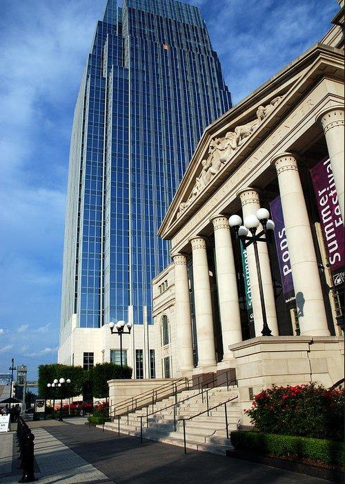 Nashville Greeting Card featuring the photograph Schermerhorn Symphony Center Nashville by Susanne Van Hulst